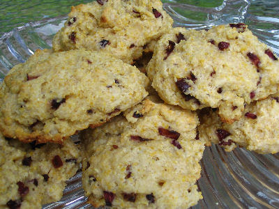 Cherry Corn Scones