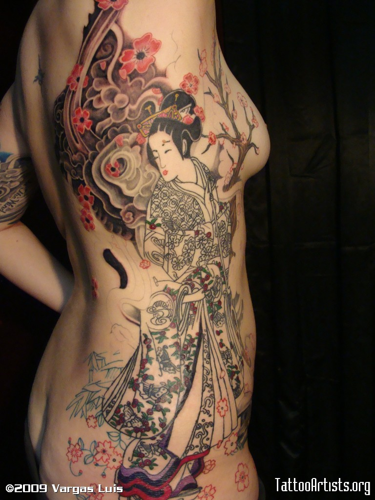 Japanese Geisha tattoos Design-2