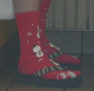 Christmas socks, photo by Rosemary West © 2008