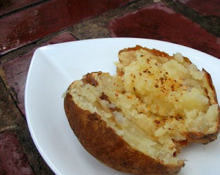 A sloooow-baked potato, soft and nutty
