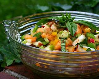 Mixed Fruit Vegetable Salad Recipe