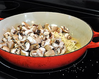First we'll cook the mushrooms