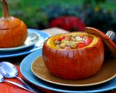 Fall Stew Baked in a Whole Pumpkin