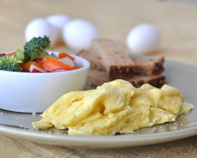 Simple French Eggs, how to cook eggs slowly in the French style, light, airy, delicious. | Low Carb, High Protein, Weight Watchers PointsPlus 6 | KitchenParade.com