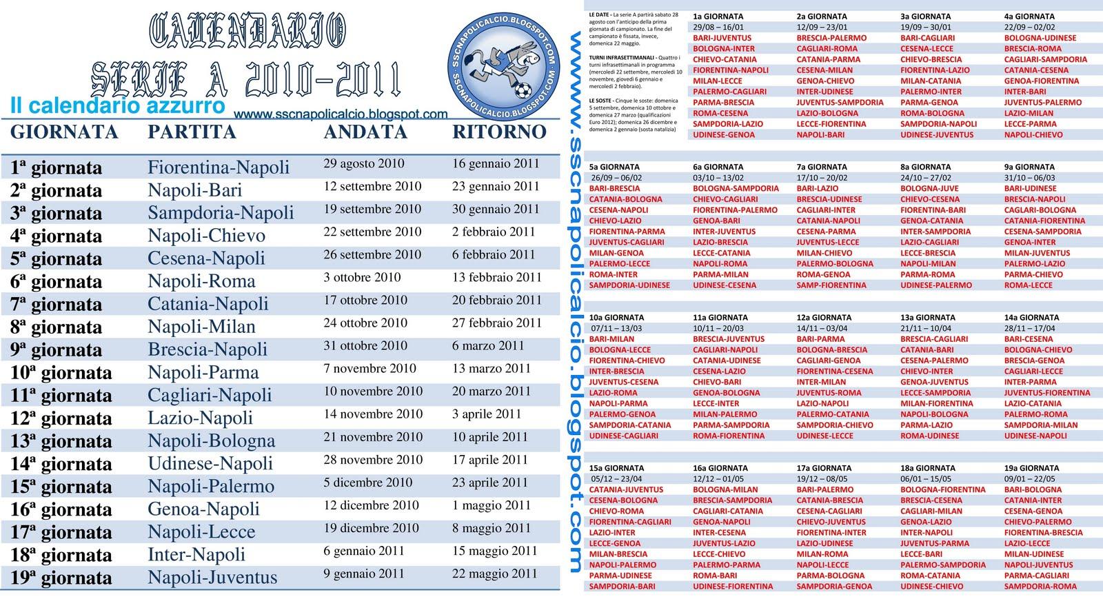 Bari Calcio Calendario.Napoli Calcio Calendario Calendario 2020