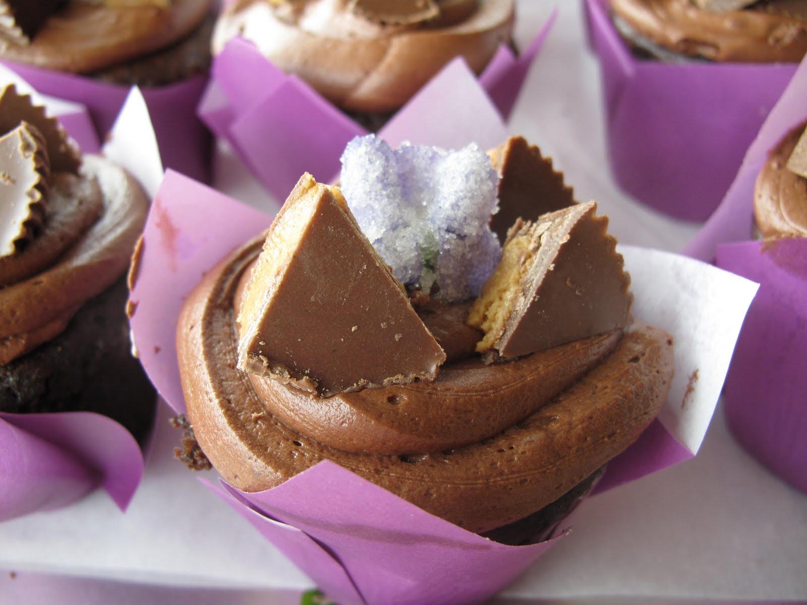 Purple Chocolate Cupcakes
