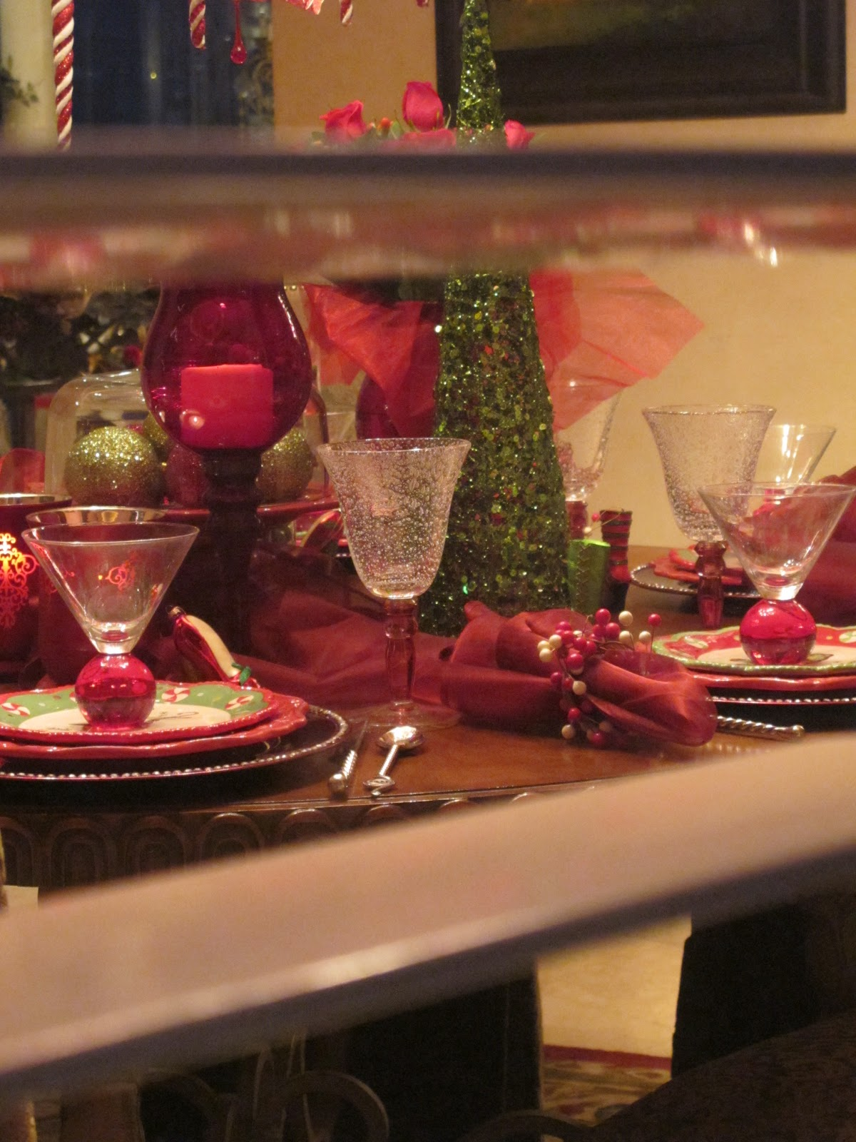 Girlfriend Party Christmas Tablescape Purple Chocolat Home
