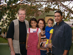 Dan with Fabio's Family, VZ Missionaries in Paraguay