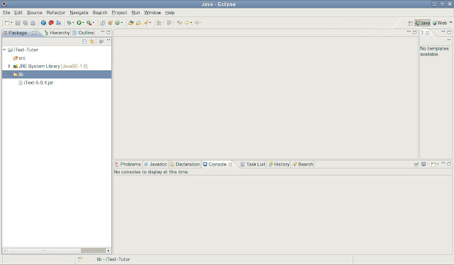 jcafe info: Hello World, in PDF, using iText and Java