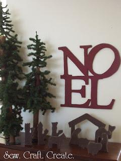 Sew Craft Create Pottery Barn Noel Sign