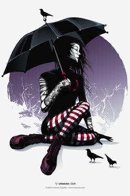 AmyRedRocks Goth by CrisVector - leylden yeni avatar ar�ivi ;)