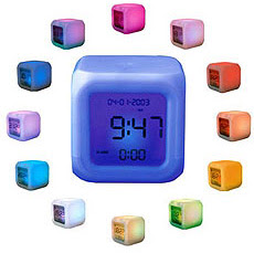 aurora color changing clock