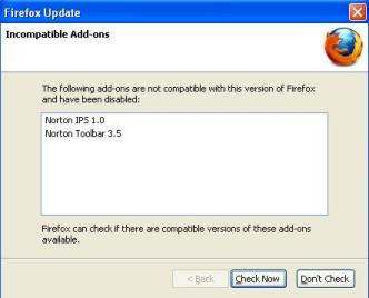 Norton Add-ons Incompatible in Firefox 3_5_1