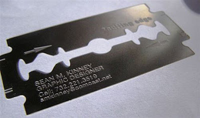 cutting edge business card