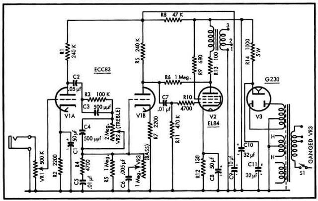 1.000.000 de Circuitos Eletrônicos Audio: Amp ECC83 + EL84