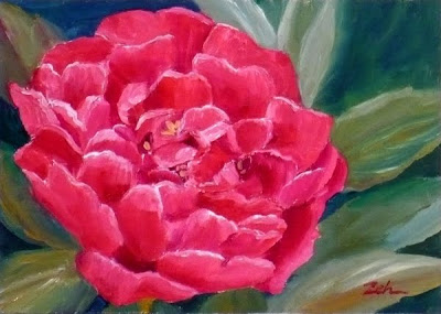 Peony Flower oil painting