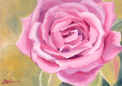 Pink Rose oil painting