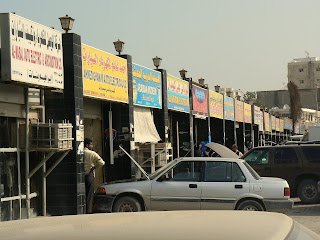 A street full of auto electricians