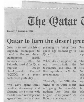 Qatar Newspaper Clipping