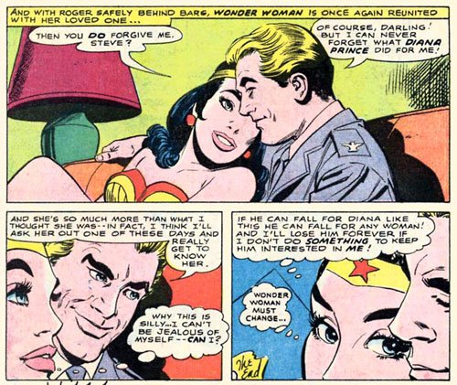 Steve Trevor is a jerk. What the hell does Diana see in him?