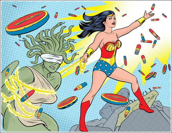 MAC Wonder Woman Collection Artwork by Mike Allred