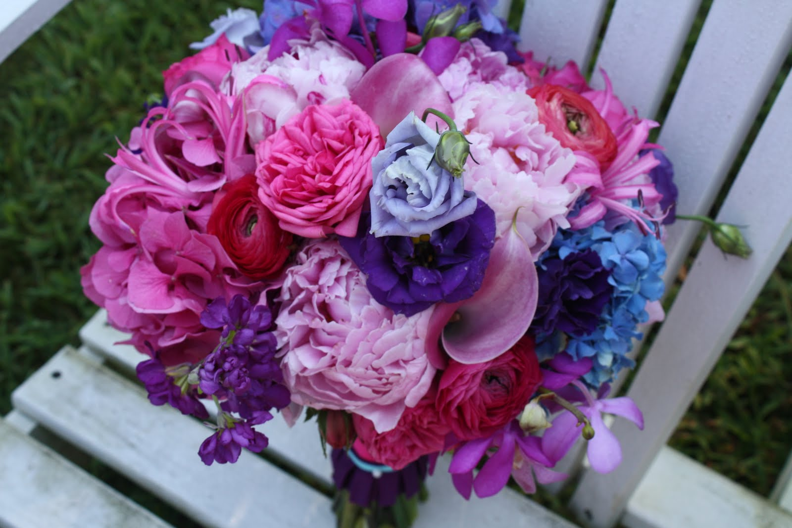 Purple Pink And Blue Wedding Flowers Viewing Gallery For