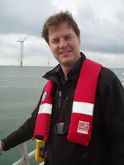Nick Clegg visits North Sea Wind Farm