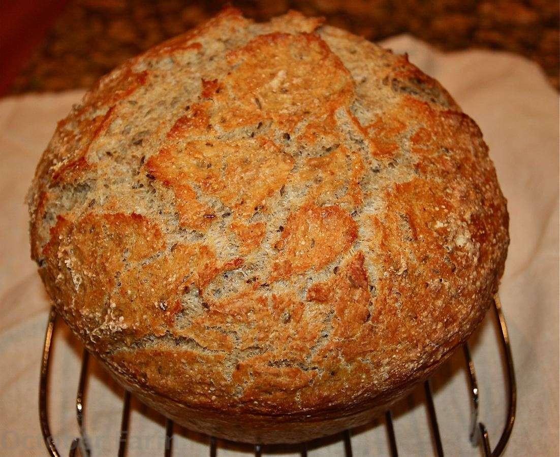 No Knead Rye Bread Recipe