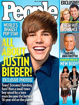 Justin Bieber People Magazine Cover