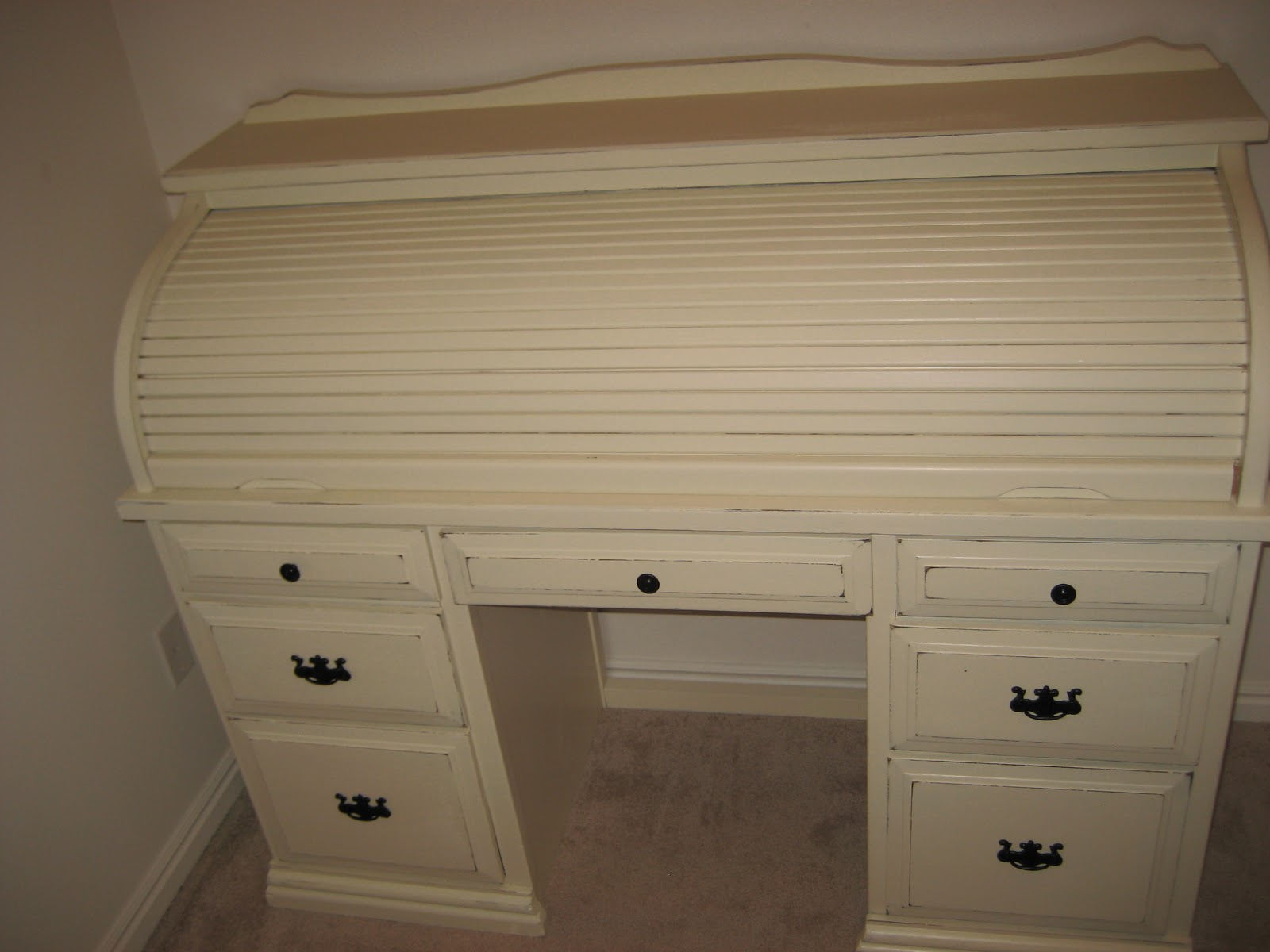 Paint Me Shabby Roll Top Desk