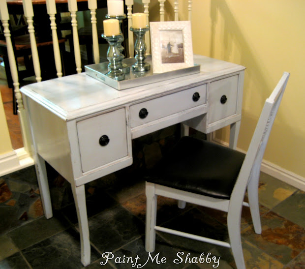 Paint Shabby Antique Desk Vanity Project