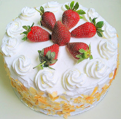Strawberries Marshmallow Cake Mix