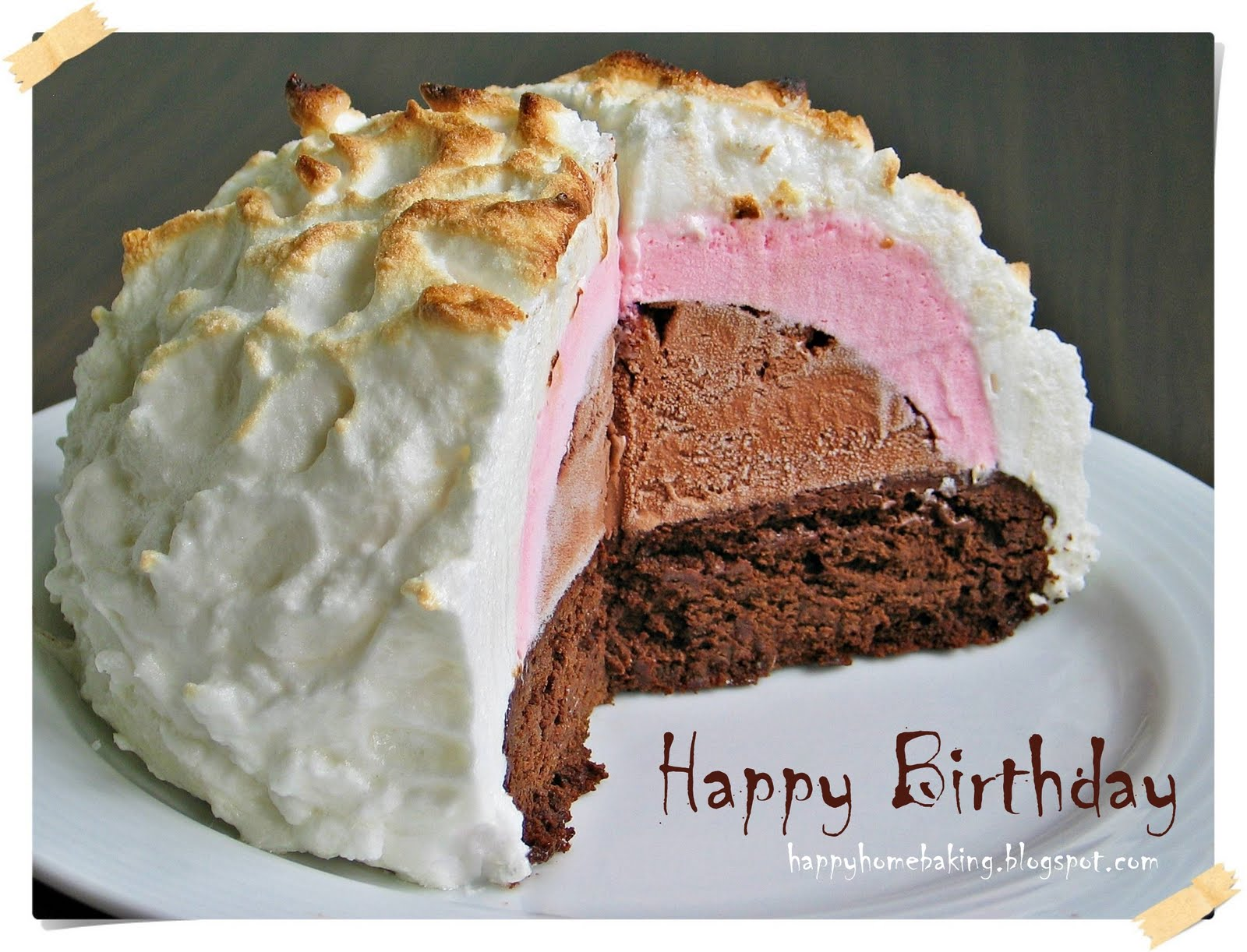 Baked Alaska Cake Recipe
