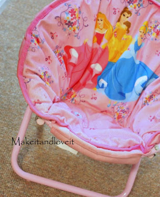Marvelous Recovering Kids Saucer Chair Make It And Love It Ocoug Best Dining Table And Chair Ideas Images Ocougorg