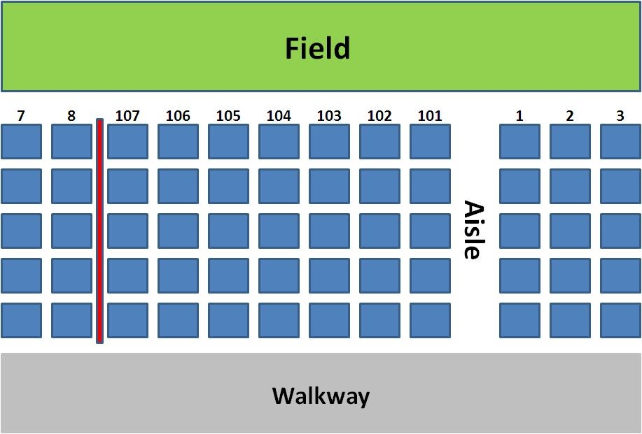 Wrigley Field Seating Chart With Rows And Seat Numbers Tales From Aisle 424