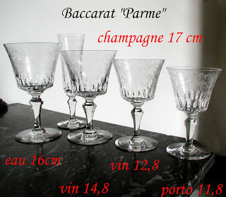 r assortiment de verres service parme baccarat 29 pi ces. Black Bedroom Furniture Sets. Home Design Ideas