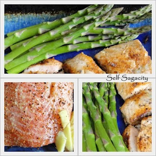 Grill Salmon and asparagus