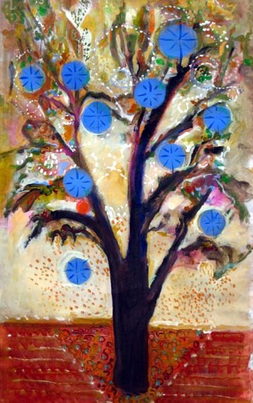 """Fancy Trees"", 4x2' showing at Lido Gallery"