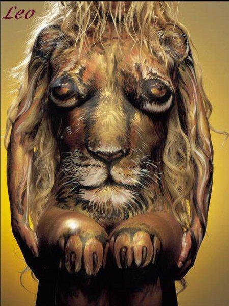 Leo Body Art Optical Illusions Image