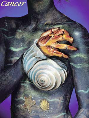 Zodiac Illusion Art - Cancer