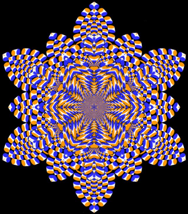 Purple Life Optical Illusion