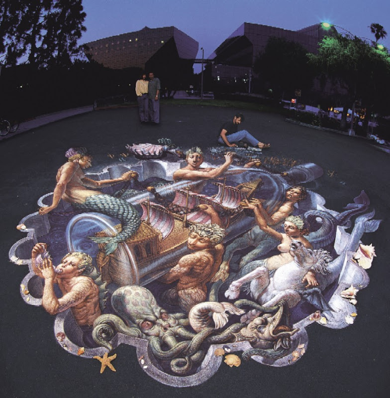 Kurt Wenner Absolut Ad 3d Optical Illusion