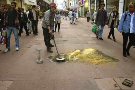 Julian Beever Treasure Hunt Optical Illusion 3
