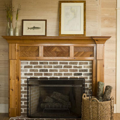 fireplace+white+grout+soft+brown+brick+nice! - دفايات وصور مجموعة كلاسيكية من دفايات مصنوعه من الأحجار