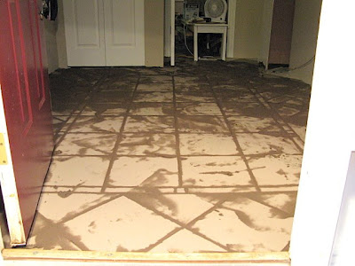 Tiling an entry with a pattern | funkyjunkinteriors.net