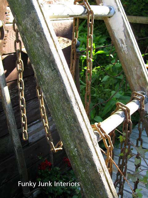Rustic garden shed 4 - the reveal! / ladder and chain