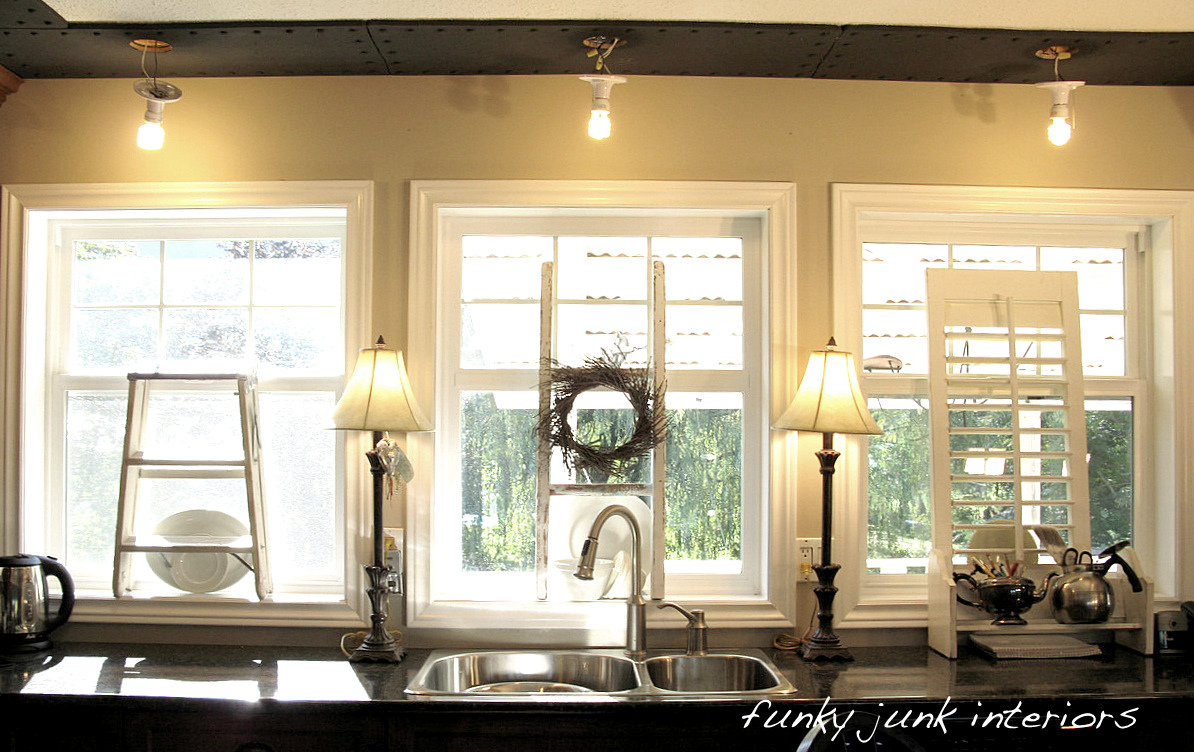 How To Decorate A Kitchen Window Sill