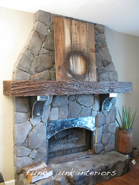 Creating an old gate for the fireplace mantel via https://www.funkyjunkinteriors.net/