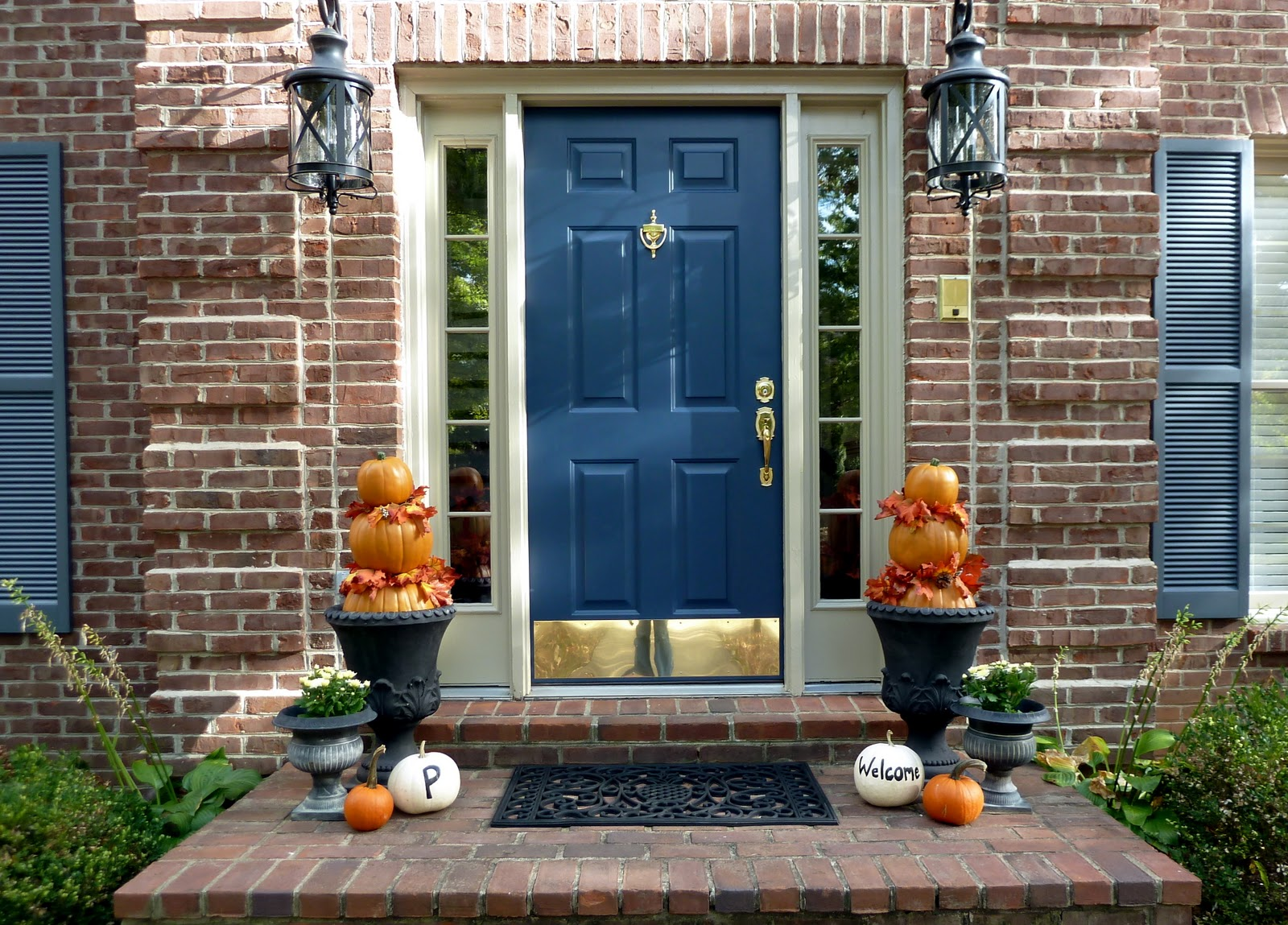 A Fall Front Door Pumpkin Topiary Tutorial Our Fifth House