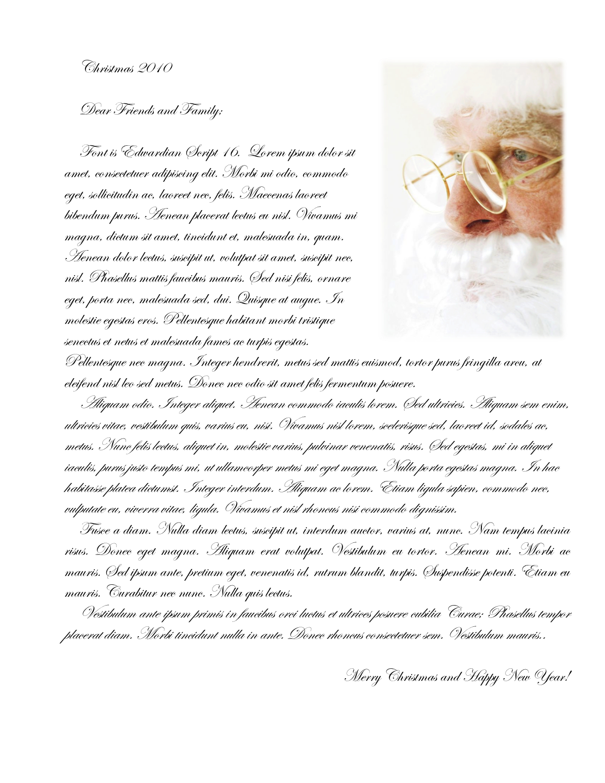 Write My Christmas Letter, Christmas love messages